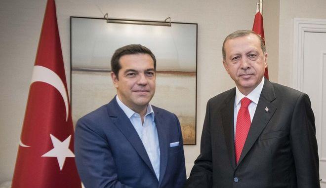 Νέα Υόρκη- Συνάντηση του Πρωθυπουργού, Αλέξη Τσίπρα με τον Πρόεδρο της Τουρκίας, Ρετζέπ Ταγίπ Ερντογάν.(EUROKINISSI- Γ.Τ. Πρωθυπουργού   Andrea Bonetti)