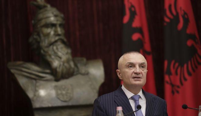 Ο πρόεδρος της Αλβανίας, Ιλίρ Μέτα