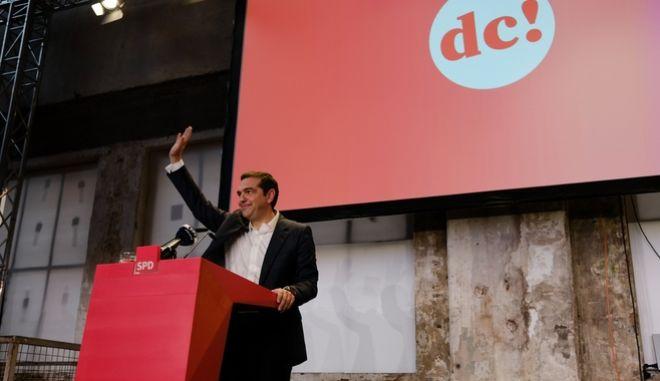 Ο Πρωθυπουργός, Αλέξης Τσίπρας, στο συνέδριο του Σοσιαλδημοκρατικού κόμματος