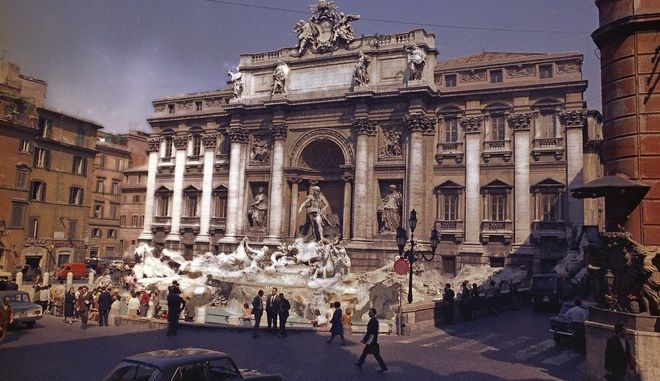 Pictured here is the Fontana Di Trevi, the most magnificent of the public fountains in Rome, Italy, May 24, 1968. (AP Photo/Mario Torrisi)