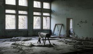 Φώτο από ένα σχολείο στην πόλη Πρίπυατ που εκκενώθηκε τον Απρίλιο του 1986 λόγω του πυρηνικού ατυχήματος του Τσερνόμπιλ
