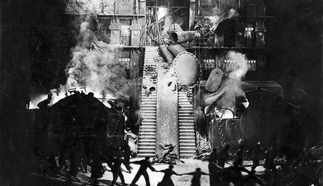 Στιγμιότυπο από τη θρυλική ταινία Metropolis του Φριτς Λανγκ