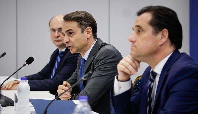 Ο Κυριάκος Μητσοτάκης και οι αντιπρόεδροι της ΝΔ