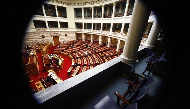 Συζήτηση επικαιρων ερωτήσεων στην Ολομέλεια της Βουλής την Πέμπτη 13 Φεβρουαρίου 2014. (EUROKINISSI/ΓΙΩΡΓΟΣ ΚΟΝΤΑΡΙΝΗΣ)