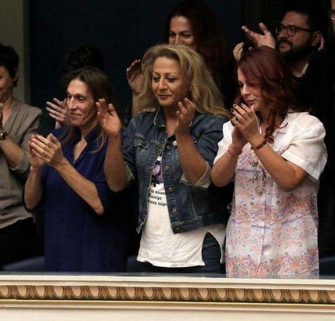Στιγμιότυπο από το ψήφισμα ταυτότητας φύλου στη Βουλή των Ελλήνων