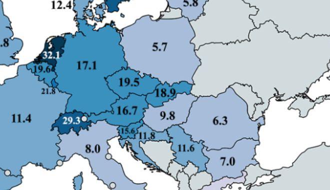 Χάρτης: Μάντεψε ποιοι Ευρωπαίοι δεν πάνε γήπεδο