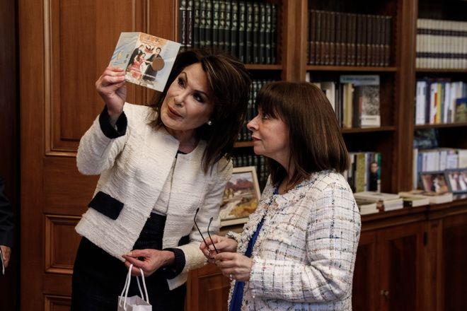 Συνάντηση της Προέδρου της Δημοκρατίας Κατερίνας Σακελλαροπούλου με την Πρόεδρο της Επιτροπής