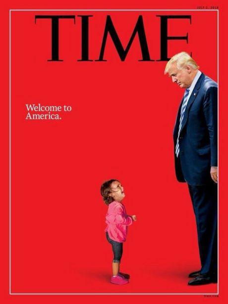 """Το εξώφυλλο """"ράπισμα"""" του TIME στον Τραμπ για το μεταναστευτικό"""