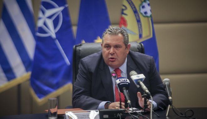 Συνέντευξη τύπου του υπουργού Άμυνας Πάνου Καμμένου την Τρίτη 3 Ιουλίου 2018. (EUROKINISSI/ΧΡΗΣΤΟΣ ΜΠΟΝΗΣ)