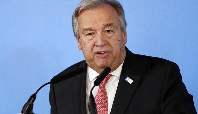 O γενικός γραμματέας του ΟΗΕ, Αντόνιο Γκουτέρες