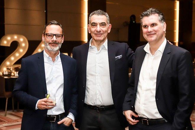 Από αριστερά: Πάνος Βελαχουτάκος HR Manager, Νικόλας Πεφάνης CEO & Βασίλης Παπαχριστοδούλου COO