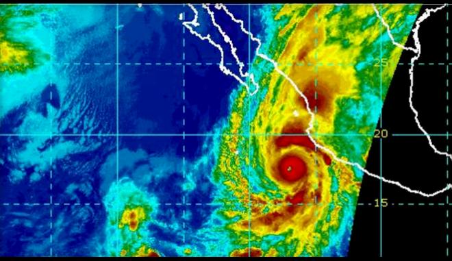 Ο τυφώνας Willa όπως φαίνεται από δορυφόρο της NASA