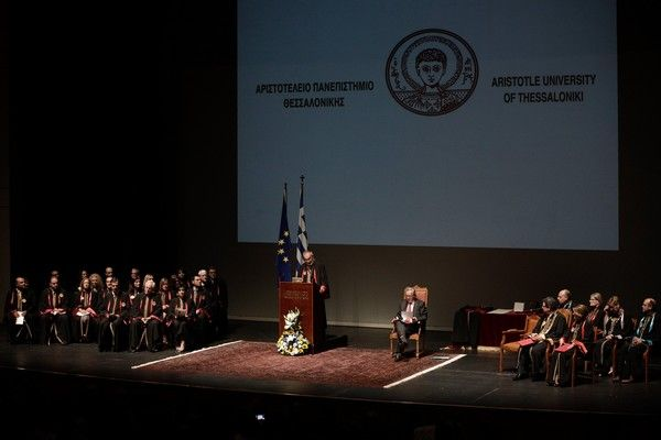 he European Commission President Jean-Claude Juncker named Honorary Doctor of the Law School of the Aristotle University of Thessaloniki (AUTH), at a ceremony at the Thessaloniki Concert Hall, Thessaloniki, Greece on July 13, 2017. /         . -            (),      , 13  2017.