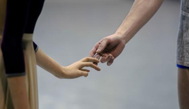 Χορευτές του Εθνικού Μπαλέτου του Sodre κάνουν πρόβα τον Ρωμαίο και την Ιουλιέτα