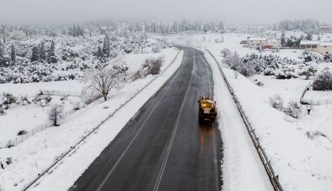 Χιόνια στη Βοιωτία
