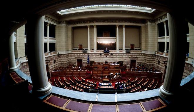 Εικόνα από συζήτηση στην ολομέλεια της Βουλής