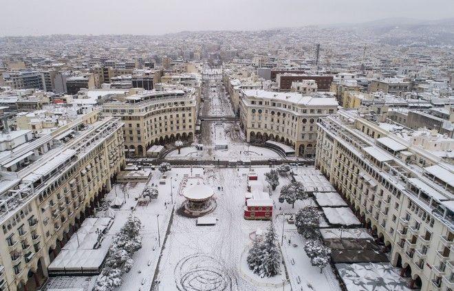 Μαγευτικές εικόνες: Η πάλλευκη Θεσσαλονίκη από ψηλά
