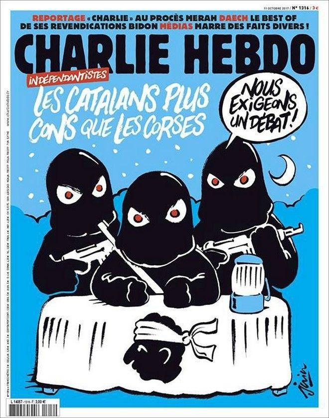 Charlie Hebdo: Προκαλεί ξανά με Καταλονία και Κορσική