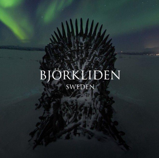 O Θρόνος του Βορρά, στο Μπιόρκλιντεν της Σουηδίας