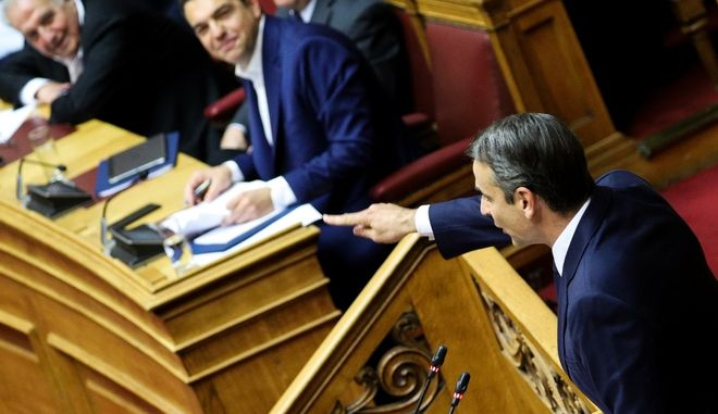Συζήτηση και ψηφοφορία στην ολομέλεια της βουλής για την πρόταση του Πρωθυπουργού για ψήφο εμπιστοσύνης στην Κυβέρνηση, Τετάρτη 8 Μάη. (EUROKINISSI/ ΓΙΩΡΓΟΣ ΚΟΝΤΑΡΙΝΗΣ)