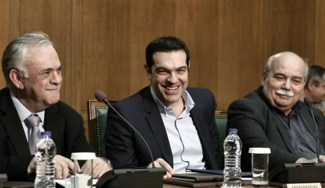 Cabinet meeting of the government , at the Greek parliament, in Athens, on Feb. 27, 2015 /    ,  , ,  27 , 2015