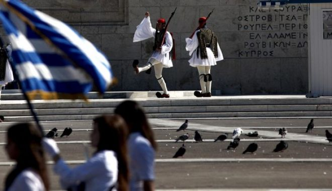 Student Parade commemorating the 28th of October Greek National Holiday. Athens, October 28, 2013 /         28 , 2013