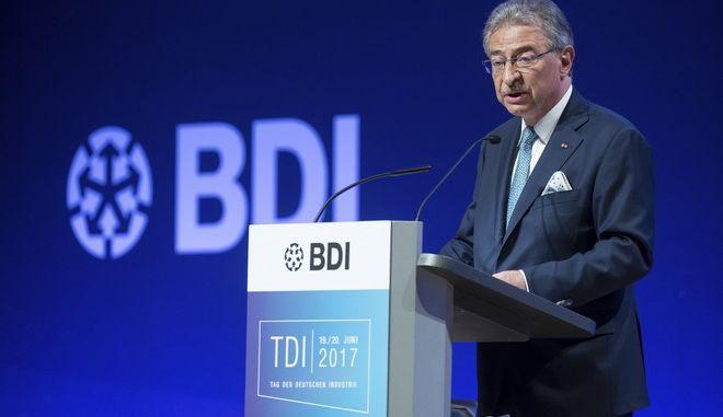 Ο πρόεδρος της Ομοσπονδιακής Ένωσης Γερμανικών Βιομηχανιών (BDI) Dieter Kempf