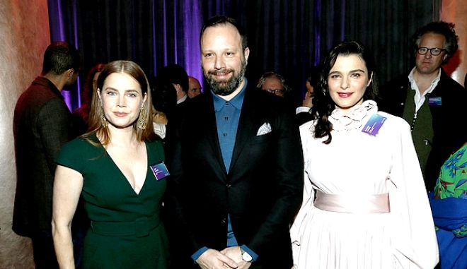 Ο Γιώργος Λάνθιμος με την Αμι Ανταμς και την Ρέιτσελ Βάις