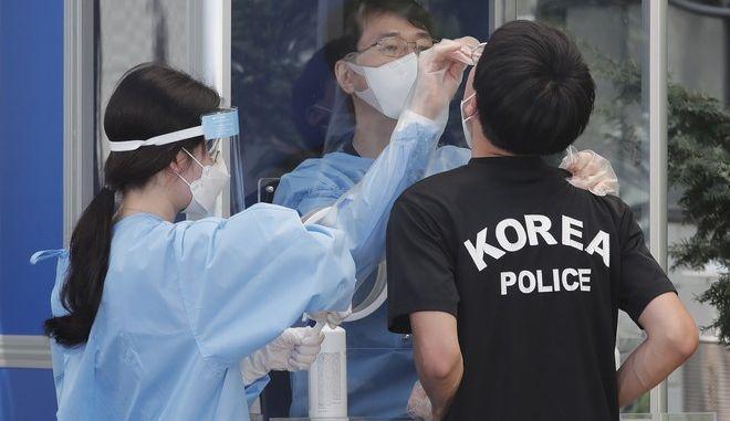 Τεστ για τον κορονοϊό στη Νότια Κορέα