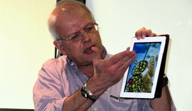 ΚΕΦΑΛΟΝΙΑ- ο καθηγητής σεισμολογίας, Άκης Τσελέντης, σε συνέντευξη Τύπου που παραχώρησε στο Αργοστόλι.(EUROKINISSI-ΕΦΗΜΕΡΙΔΑ ΚΕΦΑΛΟΝΙΑ)