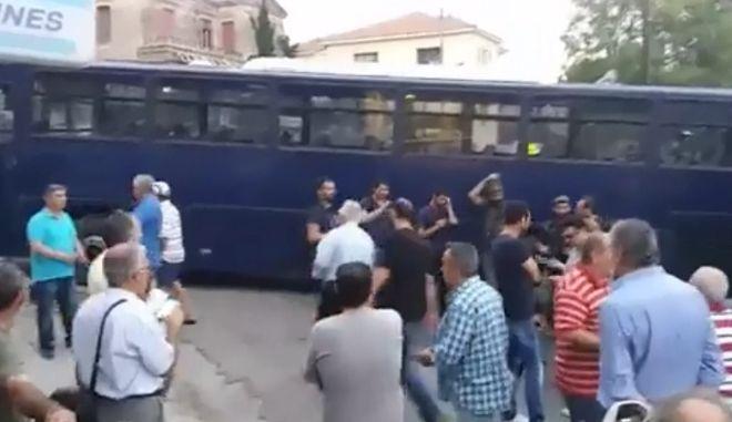Σε εξέλιξη συγκέντρωση διαμαρτυρίας στη Μυτιλήνη