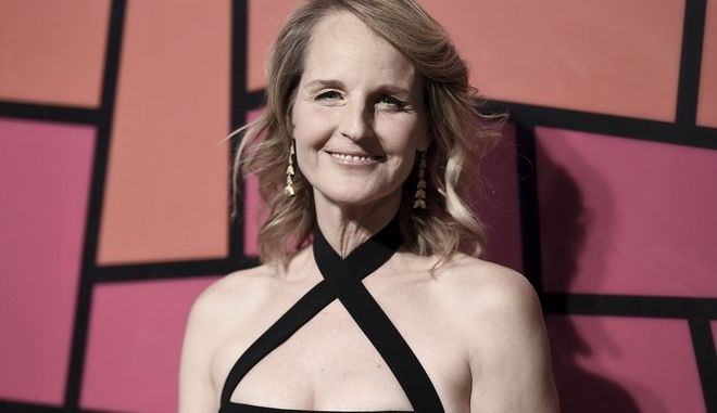 Helen Hunt attends Saint John's Health Center 75th Anniversary Gala at 3Labs on Saturday, Oct. 21, 2017, in Culver City, Calif. (Photo by Richard Shotwell/Invision/AP)