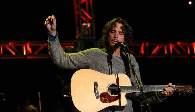 Chris Cornell and Soundgarden perform at the 2014 Bridge School Benefit at the Shoreline Amphitheatre in Mountain View California on Saturday, October 25, 2014. (Photo by John Davisson/Invision/AP)