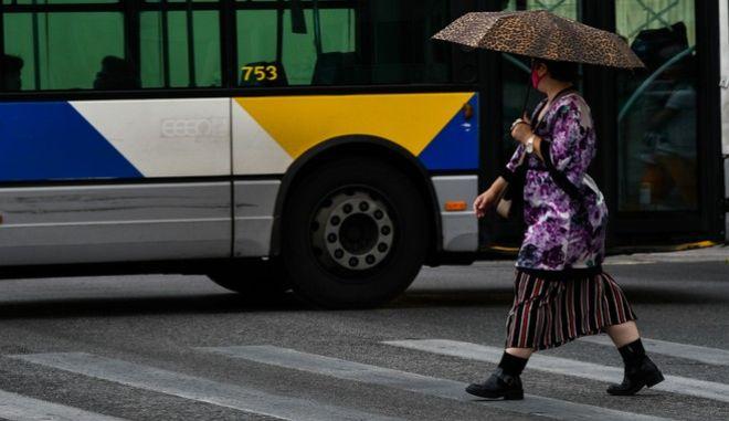 Βροχή στην Αθήνα (φωτογραφία αρχείου)