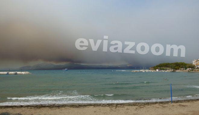 """Φωτιά στην Εύβοια: """"Η θάλασσα είχε γεμίσει κάρβουνο""""- Συγκλονιστικές μαρτυρίες"""