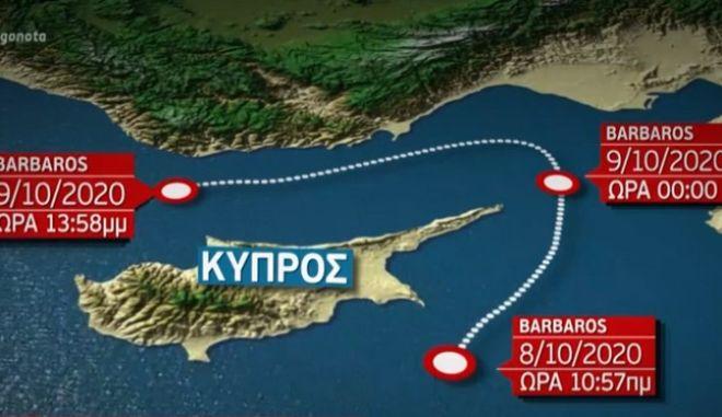 Νέα τουρκική Navtex για έρευνες του Μπαρμπαρός στην κυπριακή ΑΟΖ