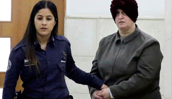 Η Μάλκα Λάιφερ μεταφέρεται σε δικαστήριο στην Ιερουσαλήμ, 27 Φεβρουαρίου 2018.