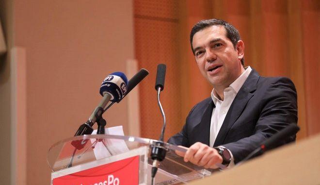 Ο Πρόεδρος του ΣΥΡΙΖΑ Αλέξης Τσίπρας απευθύνει ομιλία στο Παρίσι