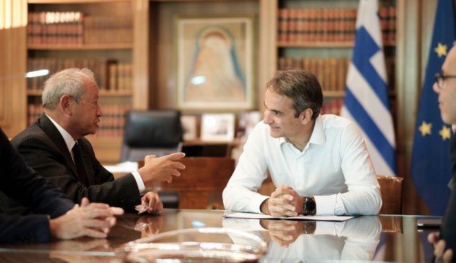 Συνάντηση Μητσοτάκη με τον Naguib Sawiris