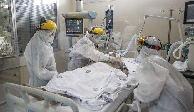 ΜΕΘ σε νοσοκομείο της Αττάλειας σε καιρό πανδημίας κορονοϊού