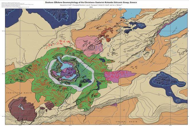Ο πρώτος υποθαλάσσιος γεωμορφολογικός χάρτης της Σαντορίνης από άλλο πλανήτη