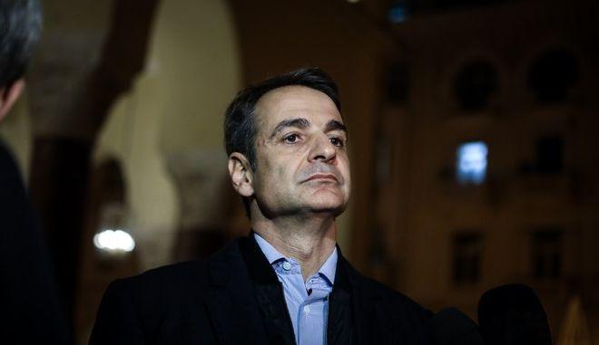O πρόεδρος της Νέας Δημοκρατίας Κυριάκος Μητσοτάκης