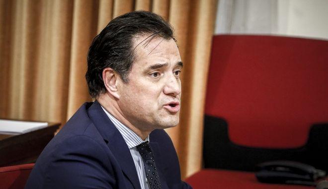 Συνέχιση της εξέτασης του Άδωνι Γεωργιάδη στην Εξεταστική Επιτροπή της Βουλής για τη διερεύνηση σκανδάλων στο χώρο της Υγείας κατά τα έτη 1997- 2014, την Πέμπτη 8 Φεβρουαρίου 2018. (EUROKINISSI/ΓΙΩΡΓΟΣ ΚΟΝΤΑΡΙΝΗΣ)