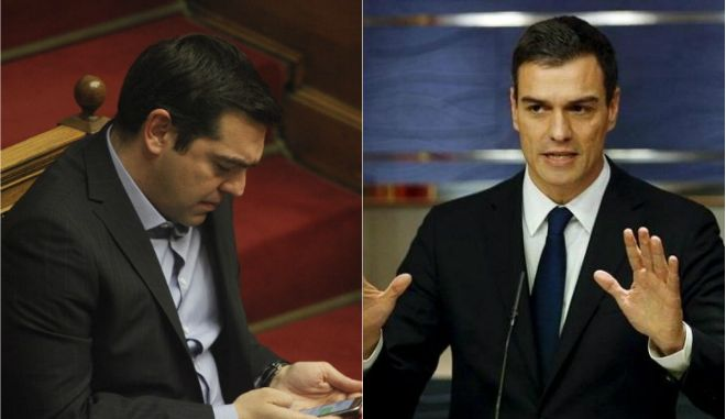 Τη στήριξη Σάντσεθ στις διαπραγματεύσεις για το χρέος ζήτησε ο Τσίπρας