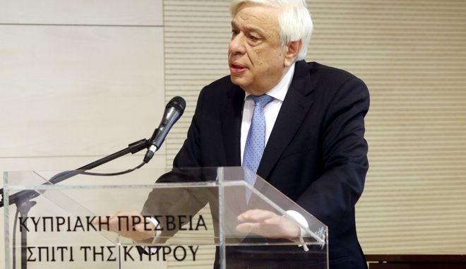Ο Π.τ.Δ. Προκοπης Παυλοπουλος τελεσε την εναρξη του συνεδριου που διοργανωνει η Ελληνικη Εταιερεια Εγκληματολογιας στην πρεσβεια της Κυπρου