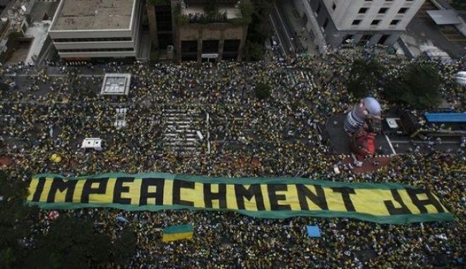 Βραζιλία: Λαοθάλασσα για παραίτηση Ρουσέφ και σύλληψη του προκατόχου της, Λούλα