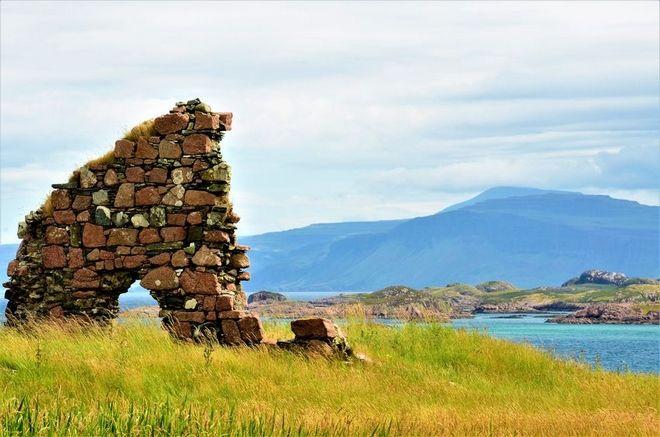 Σκάφος στο Μαλ και Ιονα, νησιά στη Σκωτία