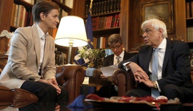Οι εξαιρετικές σχέσεις Ελλάδος - Σερβίας στη συνάντηση Παυλόπουλου - Μπρνάμπιτς
