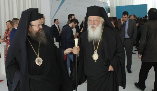 Ο Αρχιεπισκοπος Ιερωνυμος παρευρεθη σημερα στην τελετη εγκαινιων των νεων εγκαταστασεων παραγωγης της καπνοβιομηχανιας παπαστρατος στον Ασπροπυργο  Στην τελετη παρευρεθησαν πολλοι υπουργοι της κυβενρησης ΣΥΡΙΖΑ πρ. Υπουργοι των κυβερνησεων Ν.Δ και ΠΑΣΟΚ  Δημαρχοι , ο πρ. πρωθυπουργος Αντωνης Σαμαρας, ο προεδρος της Ενωσης Κεντρωων Βασιλης Λεβεντης βουλευτες  των κομματων ΣΥΡΙΖΑ, ΠΑΣΟΚ, Ν.Δ , ΠΟΤΑΜΙ,  πρεσβεις και εκπροσωποι των ενοπλων Δυναμεων και Σωματων Ασφαλειας  ΦΩΤΟ /ΧΡΗΣΤΟΣ ΜΠΟΝΗΣ