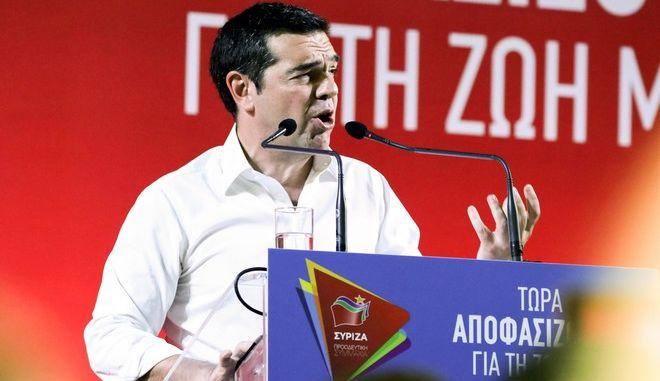 Ομιλία του Πρωθυπουργού Αλέξη Τσίπρα στο Ηράκλειο Κρήτης, Δευτέρα 1 Ιουλίου 2019.